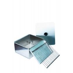 Коптильня для горячего копчения одноярусная из нержавеющей стали