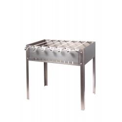 Мангал для шашлыков 6-местный из нержав. стали, толщина 1,0 мм, с шампурами