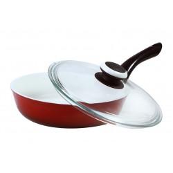 Сковорода 260 с пластмассовой ручкой (глубокая)