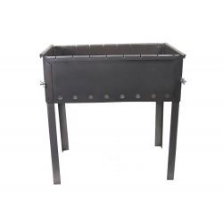 Мангал для шашлыков 10-местный черный, усиленный, толщина 1,0 мм, без шампуров