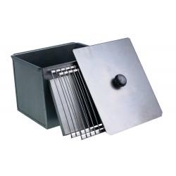 Коптильня для горячего копчения двухъярусная из черной стали